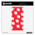 Cuadrados abstractos en rojo skins para eliPhone 4