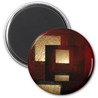 Cuadrados abstractos imán redondo 5 cm