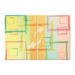 Cuadrados abstractos impresión de lienzo