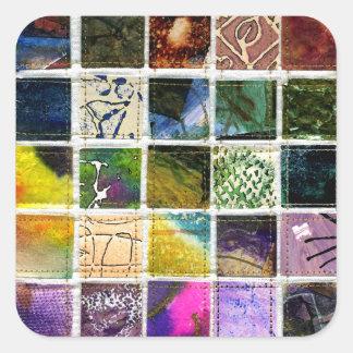 Cuadrados abstractos pegatinas cuadradases personalizadas