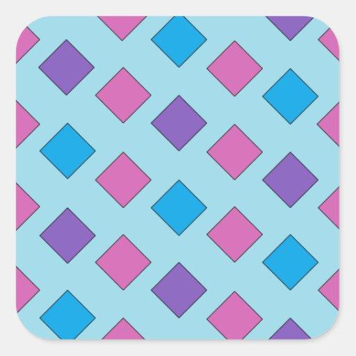 Cuadrados abstractos pegatina cuadrada
