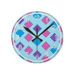 Cuadrados abstractos relojes de pared