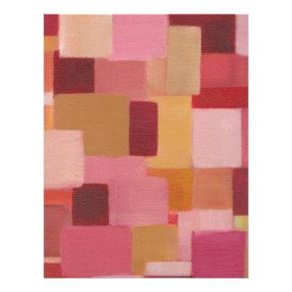 cuadrados abstractos rosados de color de malva membrete a diseño
