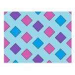Cuadrados abstractos tarjetas postales