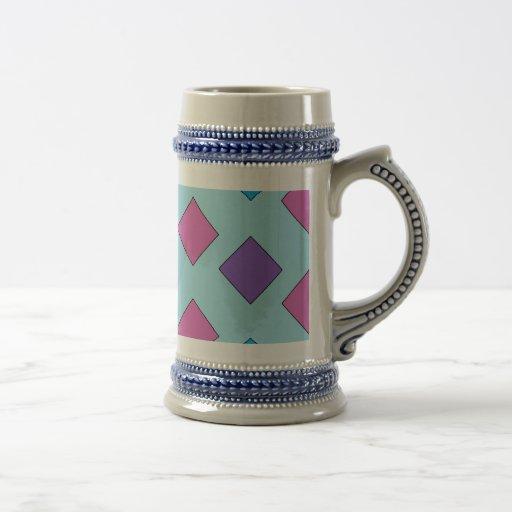 Cuadrados abstractos taza de café