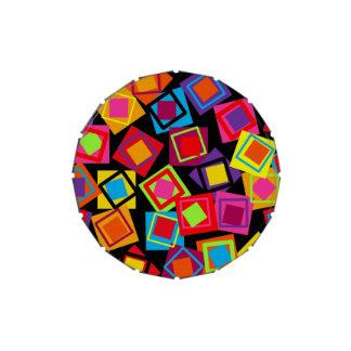 Cuadrados adaptables del confeti jarrones de dulces