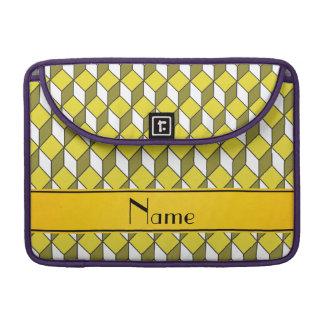 Cuadrados amarillos conocidos personalizados 3d funda para macbook pro