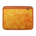 cuadrados anaranjados para Mac Book Fundas Para Macbook Air