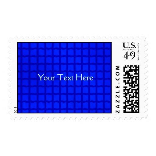 Cuadrados azules brillantes simples timbres postales
