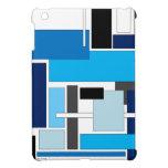 Cuadrados azules iPad mini protectores
