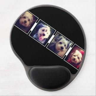 Cuadrados blancos y negros del collage de la foto alfombrillas con gel