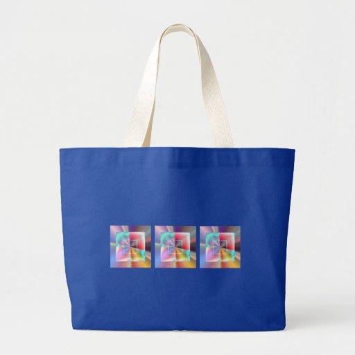 Cuadrados brillantes bolsa de mano