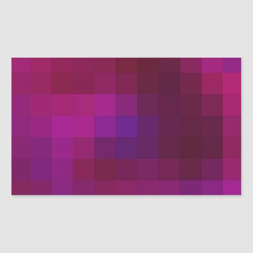 Cuadrados coloreados reconstruidos pegatina rectangular