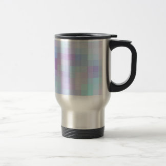 Cuadrados coloreados reconstruidos taza