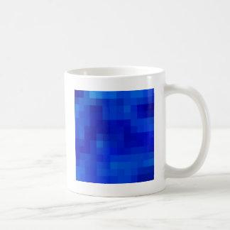 Cuadrados coloreados reconstruidos taza clásica