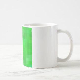 Cuadrados coloreados reconstruidos taza de café