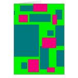 Cuadrados coloreados tarjeta