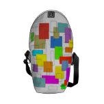 cuadrados coloridos bolsas de mensajería