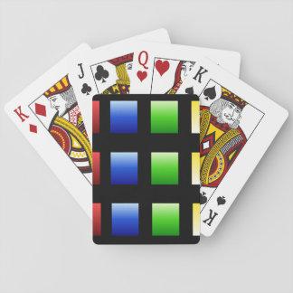 Cuadrados coloridos de la pendiente barajas de cartas