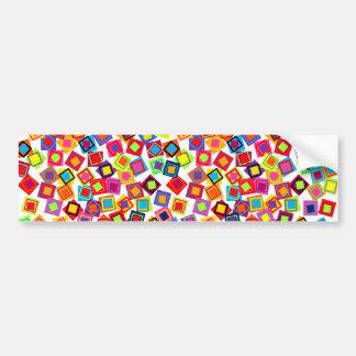 Cuadrados coloridos del confeti de la MOD Pegatina Para Auto