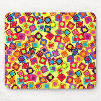 Cuadrados coloridos del confeti de la MOD Alfombrilla De Ratones