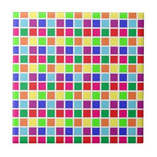 Cuadrados coloridos en blanco azulejo cuadrado pequeño