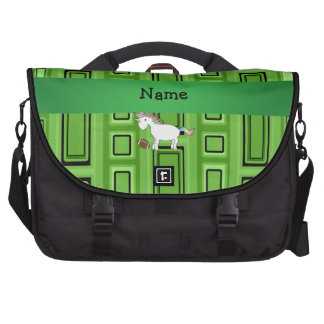 Cuadrados conocidos personalizados del verde del f bolsa de ordenador