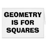 Cuadrados de la geometría tarjeta