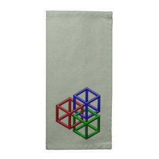 Cuadrados de la ilusión servilleta de papel