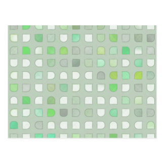 Cuadrados de lino retros de la polca de la tela de postal