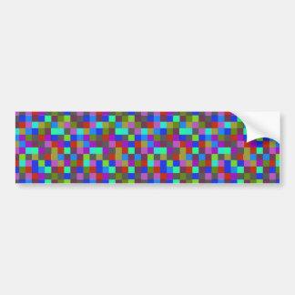 Cuadrados de los colores etiqueta de parachoque
