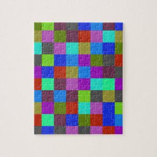 Cuadrados de los colores rompecabezas con fotos