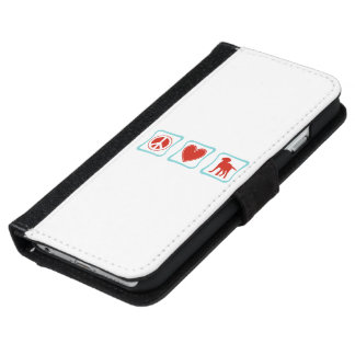 Cuadrados de los labradores retrieveres del amor funda cartera para iPhone 6