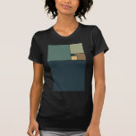 Cuadrados de oro del coeficiente camisetas