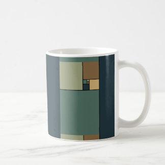 Cuadrados de oro del coeficiente taza de café