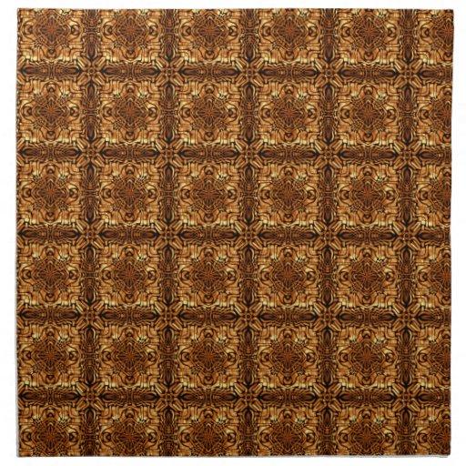 Cuadrados de oro servilleta imprimida