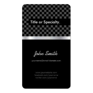 Cuadrados de plata negros elegantes y favorables a tarjetas de visita
