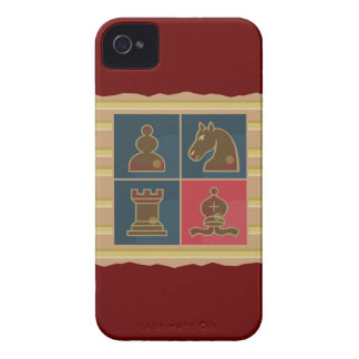 Cuadrados del ajedrez Case-Mate iPhone 4 carcasas