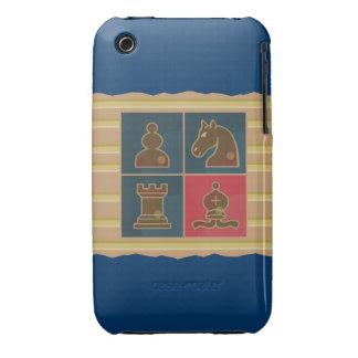 Cuadrados del ajedrez iPhone 3 cárcasa