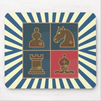 Cuadrados del ajedrez mousepad