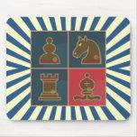 Cuadrados del ajedrez tapete de raton