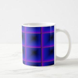 Cuadrados del anochecer taza clásica