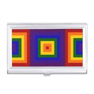 Cuadrados del arco iris cajas de tarjetas de presentación