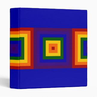 Cuadrados del arco iris carpeta 2,5 cm
