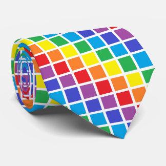 Cuadrados del arco iris corbatas personalizadas