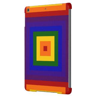 Cuadrados del arco iris funda para iPad air