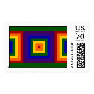 Cuadrados del arco iris - grandes sello
