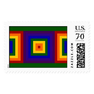 Cuadrados del arco iris - grandes sellos
