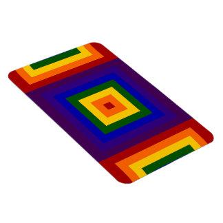 Cuadrados del arco iris imán de vinilo