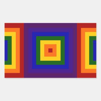 Cuadrados del arco iris rectangular altavoz